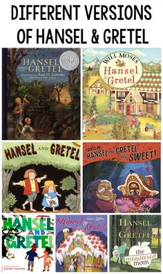 Check out this collection of favorite versions of Hansel and Gretel! Creative Curriculum Preschool, Preschool Books, Kindergarten Literacy, Good Books, Books To Read, Fractured Fairy Tales, Genre Study, Fairy Tales Unit, Teaching Reading