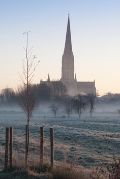 Salisbury Cathedral, Wiltshire (by southpole4)   I have a watercolour of this Cathedral.. Hope to see it one day.