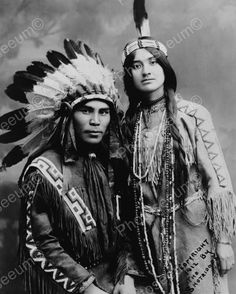 Indian Couple 1912 Vintage 8x10 Reprint Of Old Photo