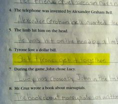 I have no idea what the assignment was, but that is the best answer ever