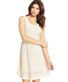 Jessica Simpson Florence Open-Knit Dress