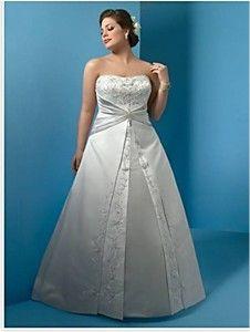Nowa, Unikalna, Amerykańska Suknia Ślubna Firmy Alfred Angelo, Styl: 2023 W, Rozmiar 18 W (USA), Kolor: White (Biały)/Silver Frost (Przyprószone Srebro)