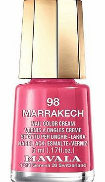 Mavala Mini Colour Nail Polish Marrakech 10151562 16 Advantage card points. Mavala Mini colour Nail Polish are perfect little pots of colour that wont dry out before you reach the bottom FREE Delivery on orders over 45 GBP. http://www.comparestoreprices.co.uk/nail-products/mavala-mini-colour-nail-polish-marrakech-10151562.asp