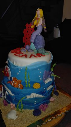 mermaid cake Mermaid Cakes, Rolls, Sweets, Desserts, Food, Tailgate Desserts, Deserts, Goodies, Buns