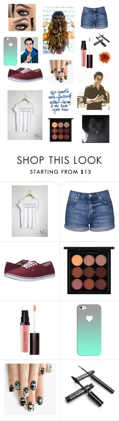 """Dylan is bae 😍"" by raelynlovescarter ❤ liked on Polyvore featuring Topshop, Vans, MAC Cosmetics, Laura Mercier, Casetify and alfa.K"