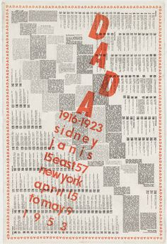Marcel Duchamp and Sidney Janis. Dada 1916-1923, Sidney Janis, April 15 to May 9, 1953. 1953