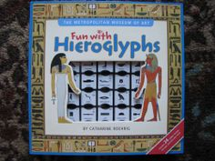 Fun with Hieroglyphs by Metropolitan Museum of Art Book Stamp Set Like New Egypt