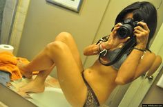 MILF in lingerie taking a selfie
