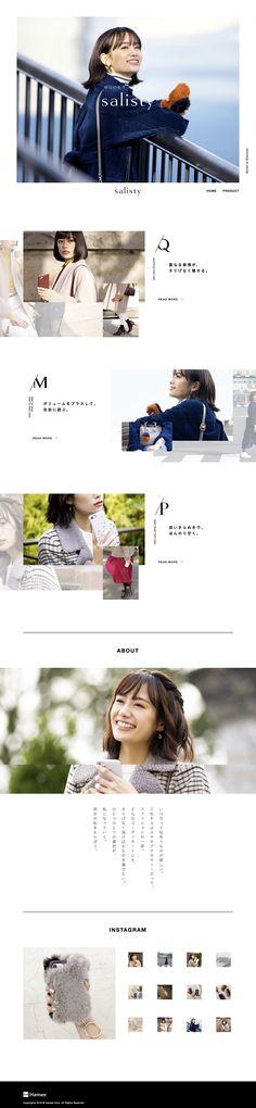 女性向けスマホケースブランド salisty(サリスティ)|公式サイト / webデザイナーのためのギャラリー・サイトリンク集 / 1GUU Web Design, Website, Stylish, Site Design
