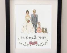 Family - Wedding - Portrait - Watercolour