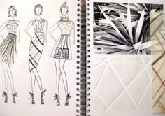 Fashion Sketchbook - fashion sketches & visual research on fringing & textures; fashion design & development // Hayley Cornish
