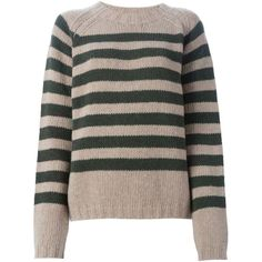 Marni striped sweater ($265) ❤ liked on Polyvore featuring tops, sweaters, long sleeve tops, stripe top, black top, black striped top and marni