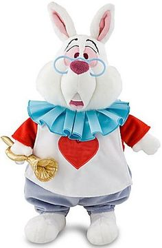 Amazon.com: Disney Alice In Wonderland Exclusive 15 Inch Deluxe Plush Figure White Rabbit: Toys & Games
