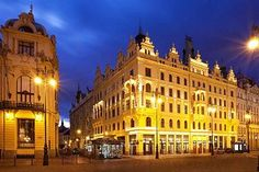 Hotel Kings Court, where I'm staying in Prague!