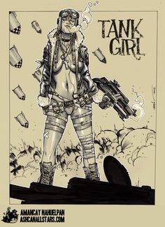 "Tank Girl by Amancay Nahuelpan for ""Tank Girl"" Week at AshcanAllstars.com"