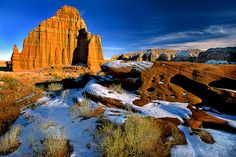 Temple of the Moon, Cathedral Valley, Capitol Reef National Park -Central Utah