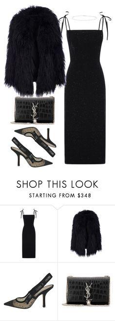 """Untitled #5414"" by theeuropeancloset ❤ liked on Polyvore featuring Christian Dior, Yves Saint Laurent and Suzanne Kalan"