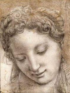 Michelangelo Drawings of Angels | Ill. : Bronzino, Tête d'une femme souriant de trois-quarts, 1542-43 ...