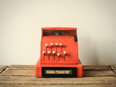red cash register.
