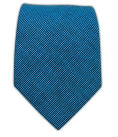 Micro Tooth Dark Turquoise Cotton Tie