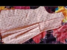 New stylish trendy center pleated kurti with yoke design cutting tutorial - YouTube Girls Frock Design, Baby Dress Design, Kids Frocks Design, Baby Frocks Designs, Sleeves Designs For Dresses, Dress Neck Designs, Blouse Designs, Salwar Designs, Sleeve Designs