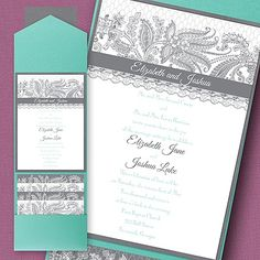 Lace Artistry Layered Pocket Invitation - Wedding Invitation Ideas - Wedding Invites - Wedding Invitations - Create a FREE Proof Online - Order Sample Invitations Pocket Invitation, Pocket Wedding Invitations, Invitation Ideas, Dream Wedding, Wedding Day, Lace Patterns, Lace Weddings, Lace Design, Bat Mitzvah