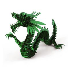 Green 3D Dragon Puzzle Model Craft for Kids and Adults DIY Cool Unique Birthday Presents Gifts Creative Toys Nice Home Room Desk Decoration, more detail from Amazon