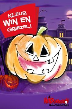 WIN: GRATIS tickets voor #Heksendoornpark! Kleur het pompoenmasker in, upload 'm op Facebook, tag Avonturenpark Hellendoorn en wie weet win jij een ticket. Download het #pompoenmasker op Heksendoorn.nl. Kleur, griezel & win! #dagjeuit #kids  #halloweenmasks #halloween2017 #heksendoorn #kleuren #masker #pompoen