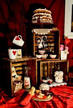"""This desserts' table is inspired by """"Le fabuleux destin d'Amélie Poulain"""" - via Le Petit Rabbit + Il Mio Filo"""