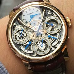 Mb&F Legacy Machine Perpetual  Price $ 145000 USD  #watch6ix #mbandf #legacymachine #swissmade #swisswatches #luxurytimepieces #watches #luminescent #swisswatch #luxurywatches #chronometer #automaticwatch #mechanicalwatch #tachymeter #watchporn #tourbillon #chronograph #gems #ruby #diamonds #instawatch #watchmania #moonphase by watch6ix