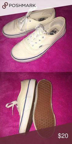 Off white Vans EUC Vans Shoes