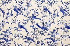 Vidal Tecidos   Produtos   Pássaros Azul
