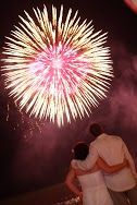 Wedding fireworks are a great way to begin the celebrations