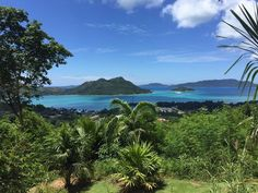 A gorgeous view of the surrounding islands from neighbouring Praslin! Taken by volunteer Amanda on her weekend away exploring the Seychelles. Weekends Away, Wildlife Conservation, Seychelles, Exploring, Islands, United Kingdom, Amanda, National Parks, Mountains