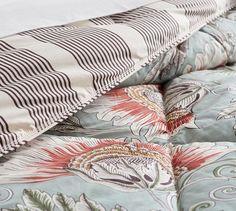 Leona Reversible Comforter and Sham #potterybarn