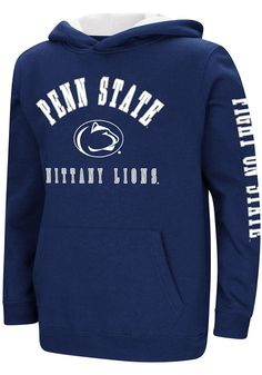 71364354ddea Colosseum Penn State Nittany Lions Youth Navy Blue Berminator Long Sleeve  Hoodie - 15039009