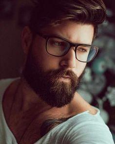 His hair, eyebrows, moustache and beard. Beard Styles For Men, Hair And Beard Styles, Hair Styles, Great Beards, Awesome Beards, Barba Grande, Hipster Noir, Beard Wash, Sexy Beard
