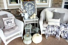 The Glam Farmhouse neutral Fall Front Porch