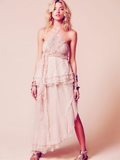 Free People Washed Ashore Maxi, $500.00 (if another colour this would be absolutely perfect as a guest!)