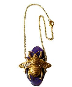 Jami Rodriguez Bumble Bee Agate Necklace