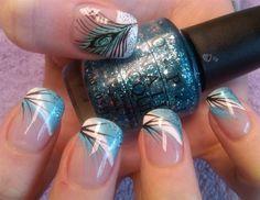 simply peacock by aliciarock - Nail Art Gallery nailartgallery.na... by Nails Magazine www.nailsmag.com #nailart