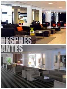 Nuestra zona lobby es ahora más moderna y queda abierta a otros espacios.
