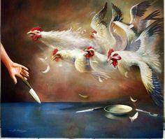Perlawanan, oil on canvas