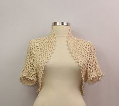 Someone Like You / Crochet Shrug Cream Bridal Shrug by lilithist, $148.00