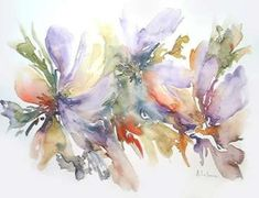 arte acuarela - Buscar con Google Watercolour Painting, Watercolor Flowers, Watercolors, Drawing Techniques, Impressionist, Artsy Fartsy, Flower Art, Drawings, Illustration