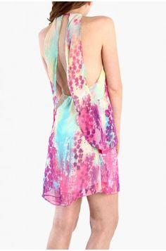 LoveMelrose.com From Harry & Molly | Multi Color Chiffon Dress