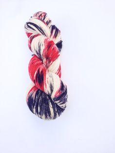 I often wonder how yarns dyed this way knit up Hand Dyed Yarn, Knitting Yarn, Superwash Merino Wool, 100g/246 yards