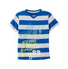 DKNY® Boys' 8-20 Dazzling Blue Short Sleeve Ride All Day Tee