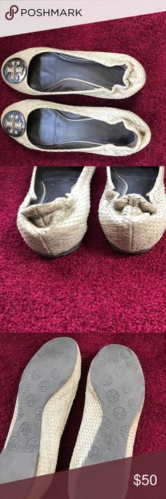 Tory  Burch flats Purchase from another posher... lots of wear upon receipt...still have life if you can figure out how to clean them Tory Burch Shoes Flats & Loafers