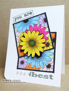 Paper craft project no. 158: You are the best